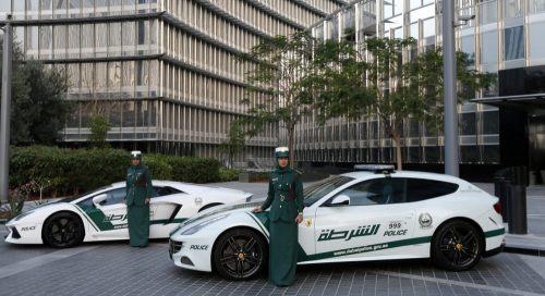 Dubai Police Ferrari FF and Lamborghini Aventador