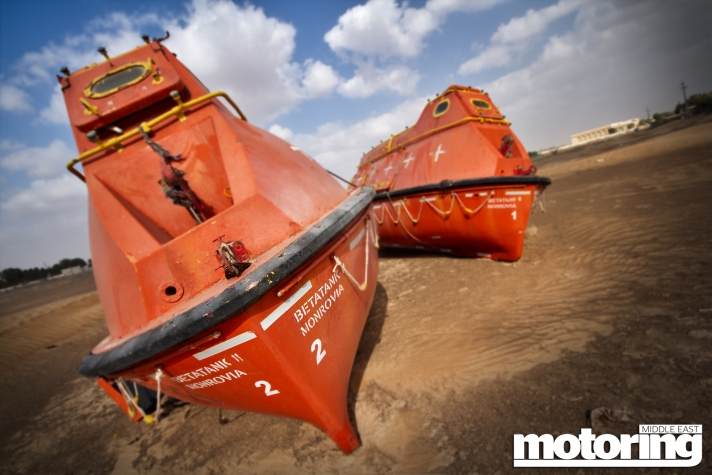 Life boats found in the desert