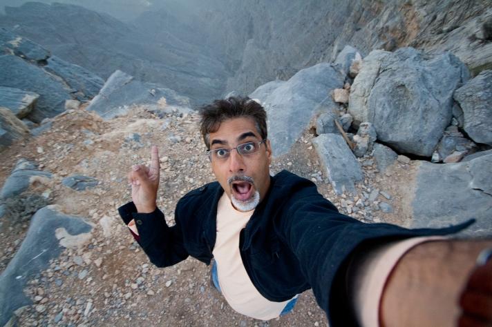 Near the peak of Jebel Jais