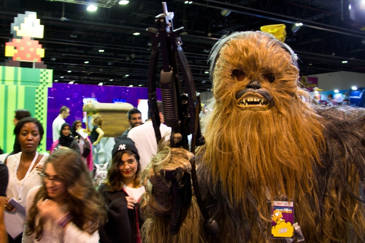 Chewbacca at Middle East Film & Comic Con