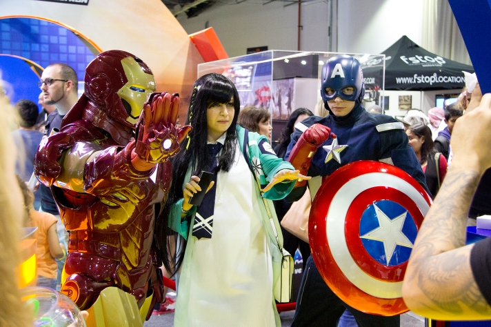 Iron Man and Captain America at Middle East Film & Comic Con