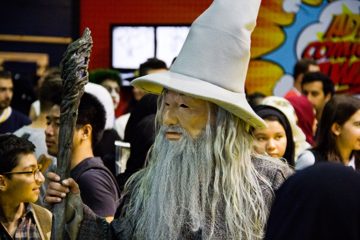 Gandalf the Grey at Middle East Film & Comic Con