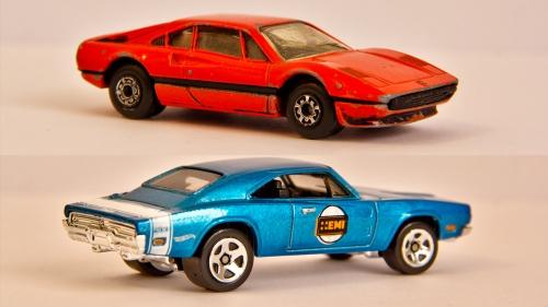 1981 Matchbox Ferrari 308 GTB Dodge Charger contemporary Hot Wheels
