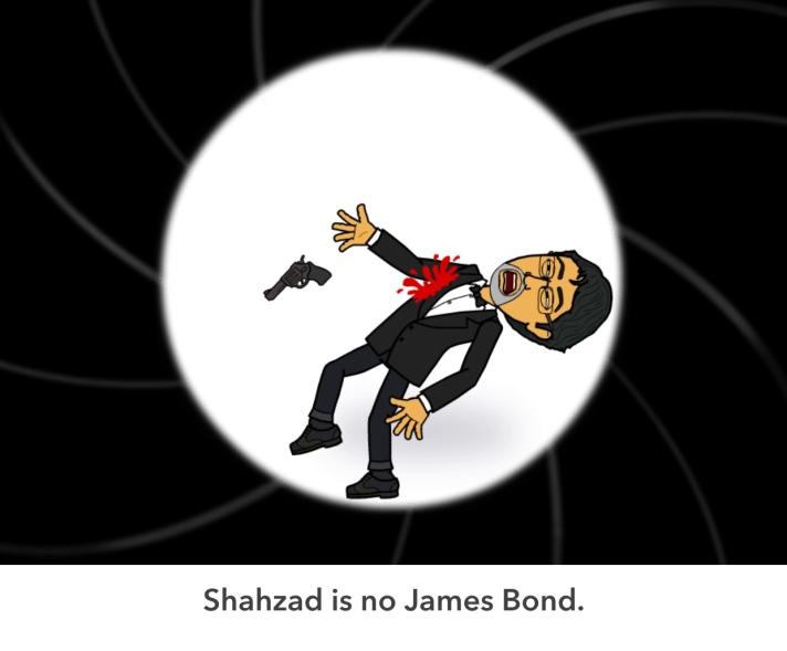 I'm not James Bond