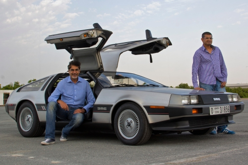 Motoring Middle East with DeLorean to promote new car show that's on GearOne TV