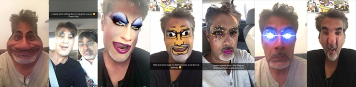 Snapchat collage