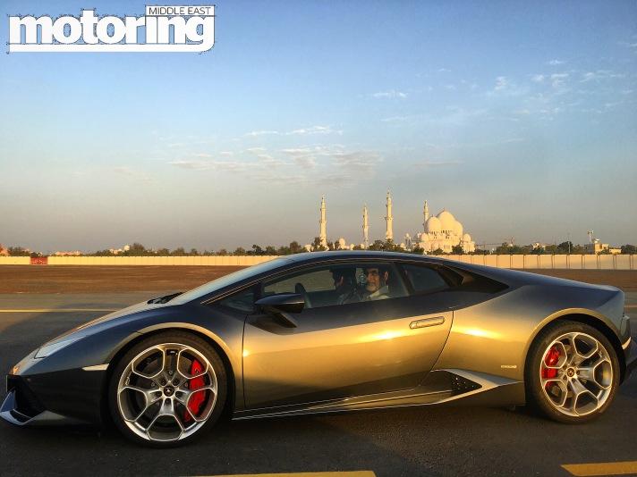 Lamborghini Huracan on Abu Dhabi Runway