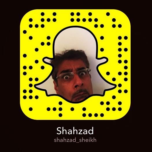 Follow me on Snapchat @shahzad_sheikh