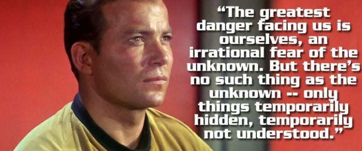Kirk fear of unknown
