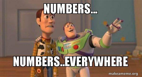 Numbers everywhere
