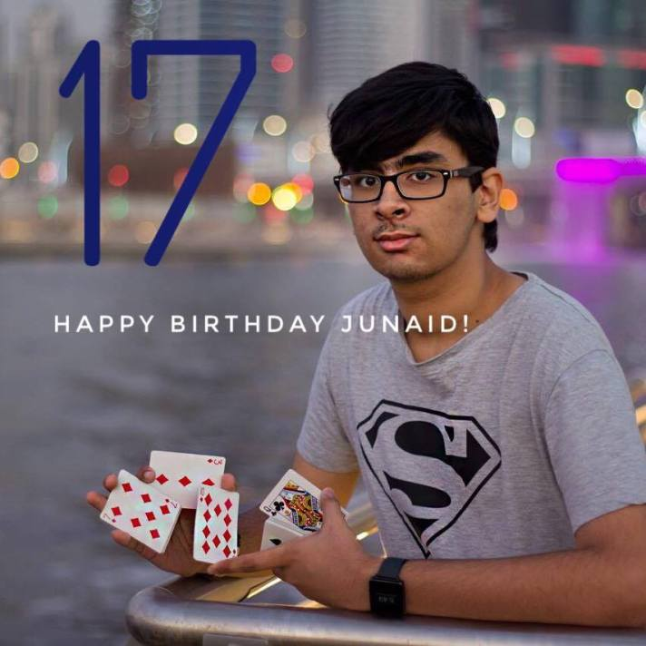 Junaid 17 birthday
