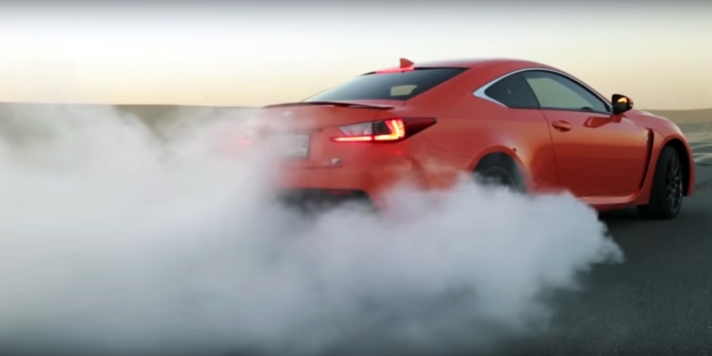 Lexus RC-F burnout