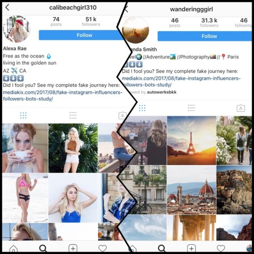 Fake instagram accounts