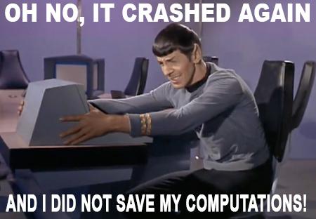 Spock computer crashed