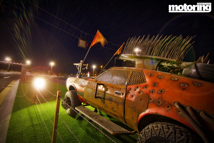 Mustang Mach 1 at Mad Exit - Last Exit Food Truck Park in Dubai