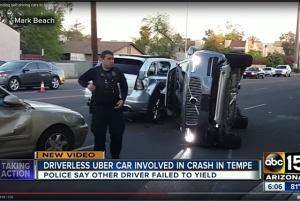 Autonomous car crash