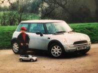 My son Junaid with a Mini and a mini-Mini