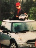 My son Junaid with a Mini and a mini-Mini